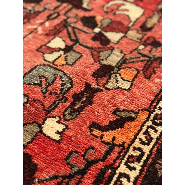 """1960's Vintage Persian Hamadan Thick & Heavy Runner 3'3""""x9'4"""" For Sale - Image 12 of 13"""
