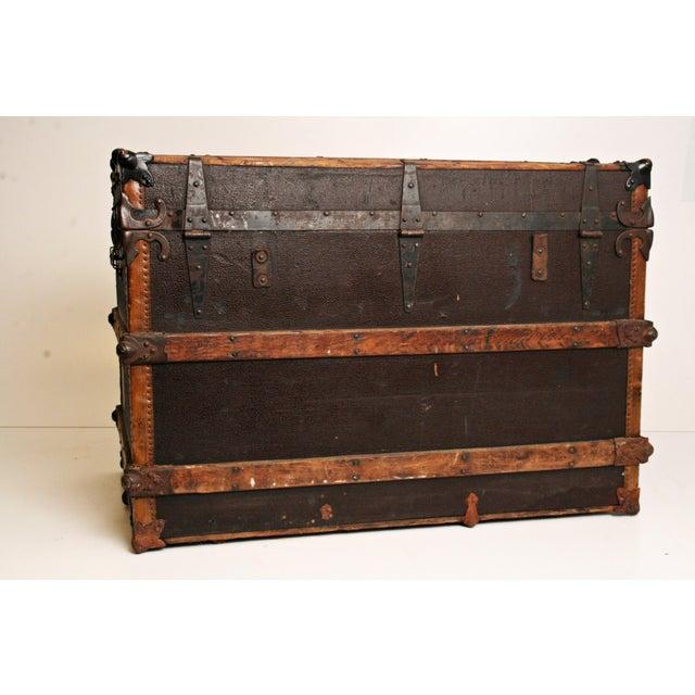 Antique Wood Steamer Trunk - Image 9 of 11