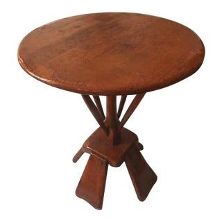 Early 20th Century Traditional Farmhouse Guéridon Pedestal Table