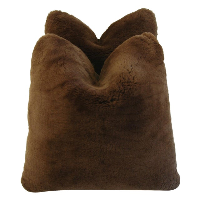 Pierre Frey Plush Lambswool Pillows - A Pair - Image 1 of 7