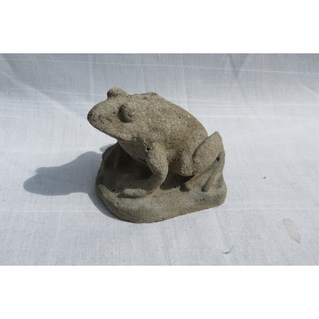 Cast Stone Frog Garden Ornament For Sale In Washington DC - Image 6 of 6