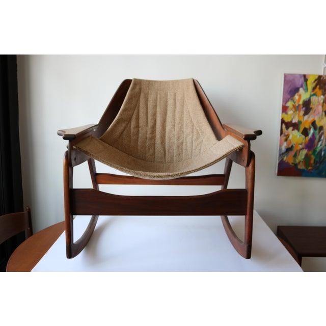 1970's Boho Jerry Johnson Sling Rocking Chair - Image 3 of 8
