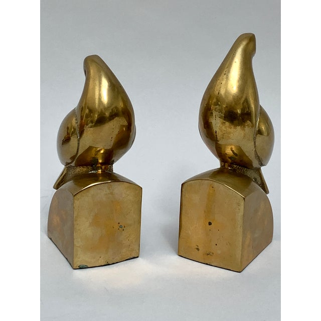 Art Deco Brass Dove Bookends – a Pair For Sale - Image 3 of 13