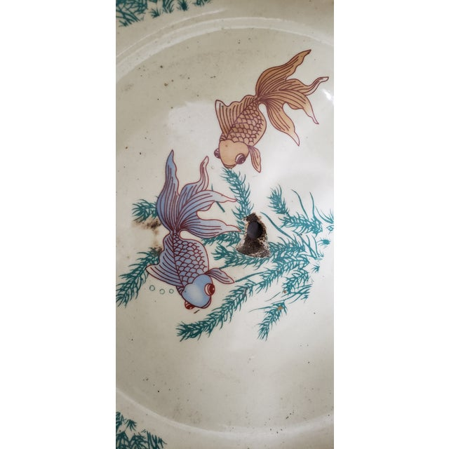 Asian Royal Satsuma Japanese Hand Painted & Transferware Planter C.1950s For Sale - Image 3 of 10