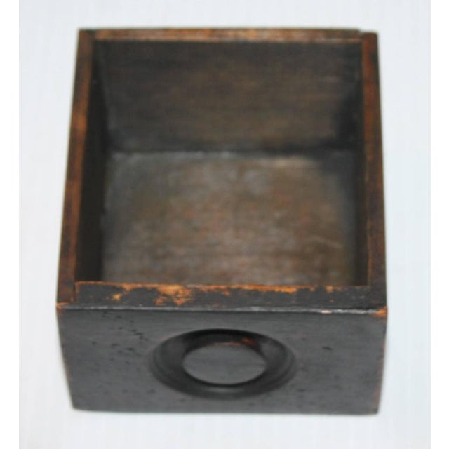 Mid 19th Century 19th Century Black Painted Spice Box For Sale - Image 5 of 6