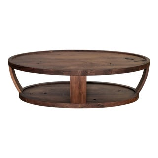 Contemporary Dylan Oval Coffee Table For Sale