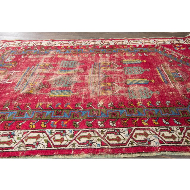 "Apadana Antique Turkish Geometric Rug - 3'1"" X 5'5"" - Image 5 of 7"