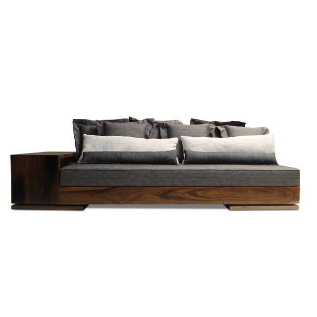 The Patone Sofa balances a modern design with natural materials and can be made in any size with any upholstery material....