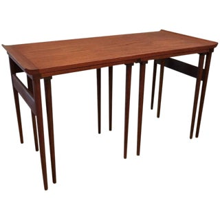 Trio of 1960s Danish Modern Walnut Nesting Tables - Set of 3 For Sale