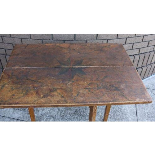 Swedish Rustic Painted Table For Sale - Image 4 of 5