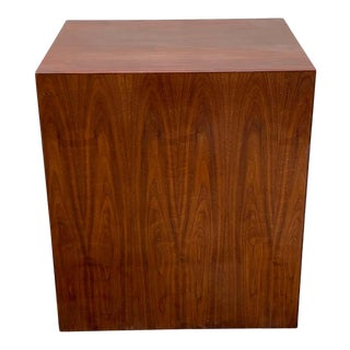 Mid 20th Century Scale Milo Baughman Style Mahogany Rectangular Pedestal For Sale