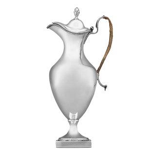Hester Bateman Georgian Silver Ewer For Sale