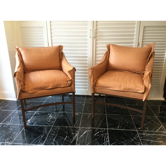 1990s 1990s Vintage Leather Chairs- a Pair For Sale - Image 5 of 13