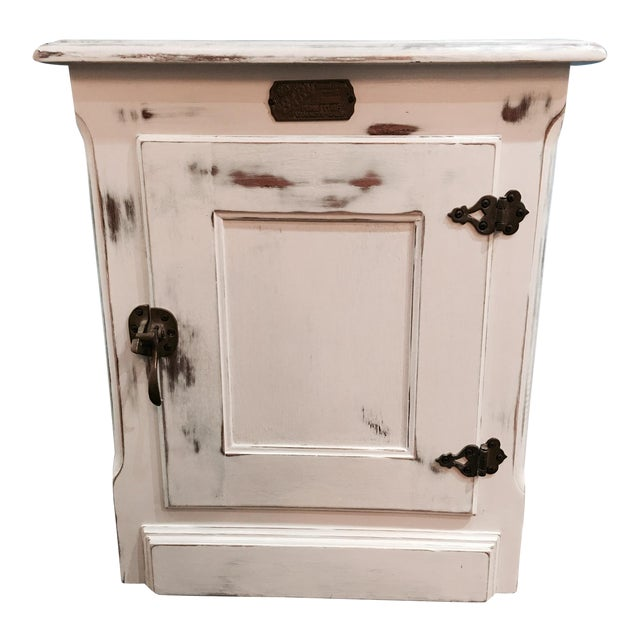Rustic Ice Box-Style Side Table - Image 1 of 4