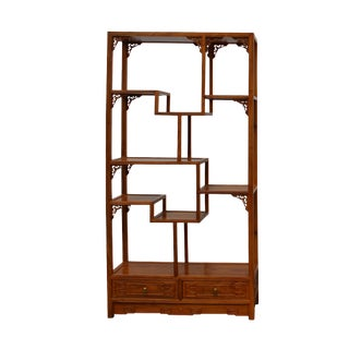 Chinese Rosewood Display Curio Cabinets Room Divider For Sale