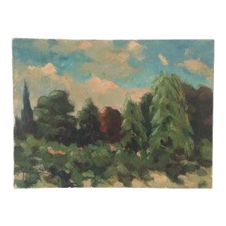 Belgian Tree Landscape Painting For Sale