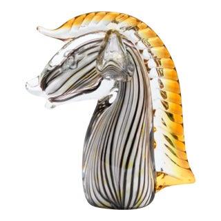 Mid-Century Murano Art Glass Horse Sculpture