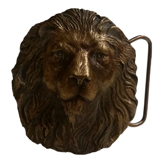 Vintage Lion's Head Belt Buckle - Image 1 of 4