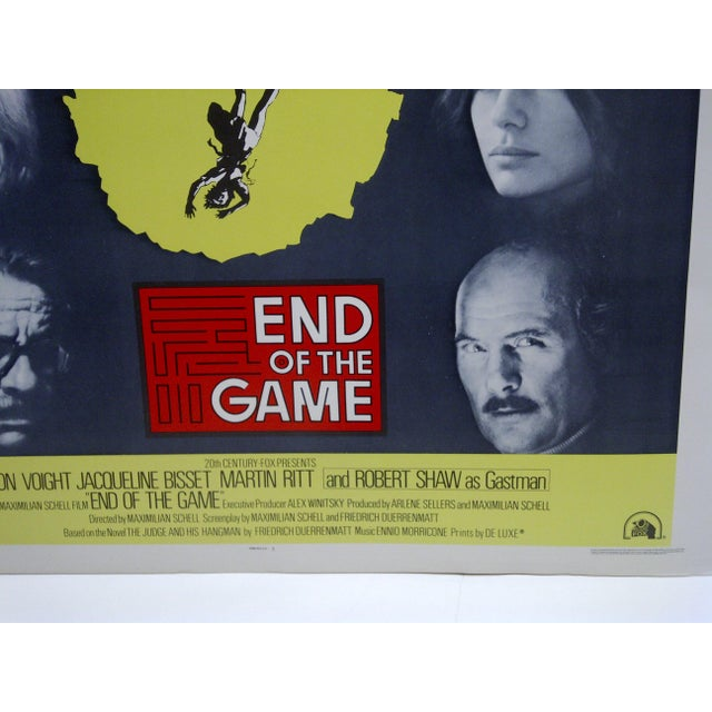 """Modern Vintage """"End of the Game"""" Movie Poster For Sale - Image 3 of 4"""
