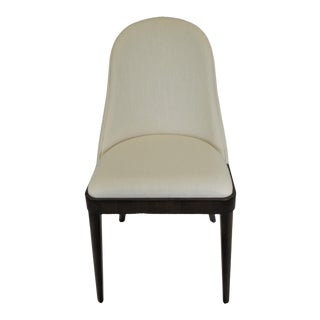 Contemporary Dining Room Chair With Rounded Back for Comfort. For Sale