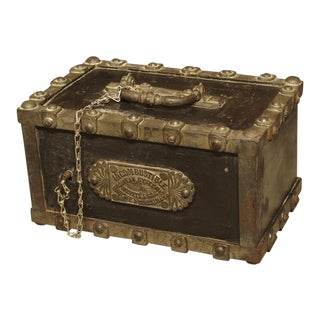"Antique Bauche ""Incombustible"" Cast Iron Safe from Northeastern France, Circa 1870 For Sale"