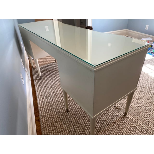 White Lacquer Barbara Barry Ladies Desk For Sale - Image 11 of 13