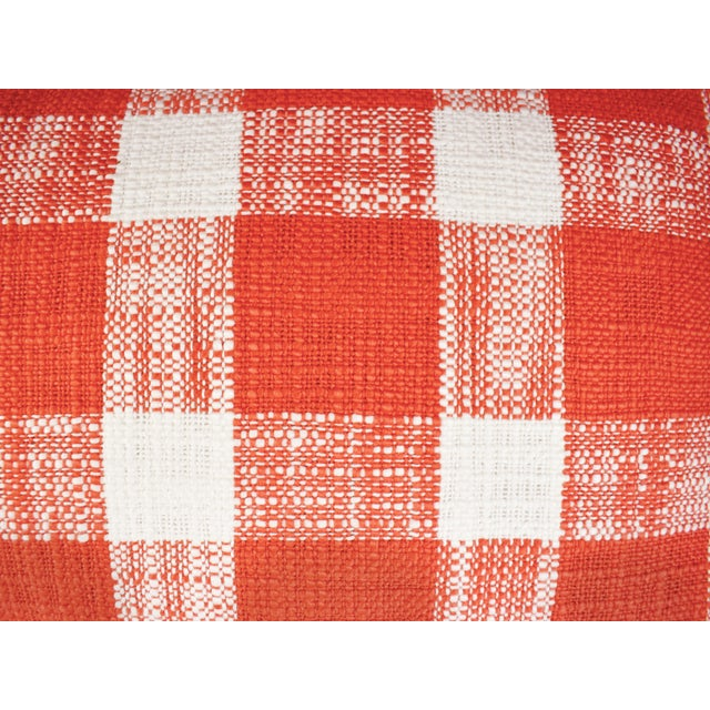French French Country Red White Gingham Pattern Cotton Throw/Toss Pillows - Set of 2 For Sale - Image 3 of 5