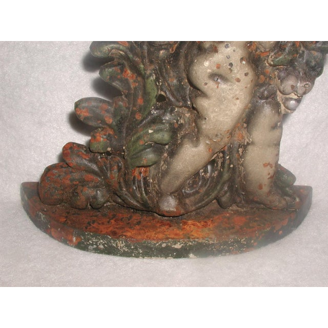 English Cherub Door Stop Iron - Image 5 of 7