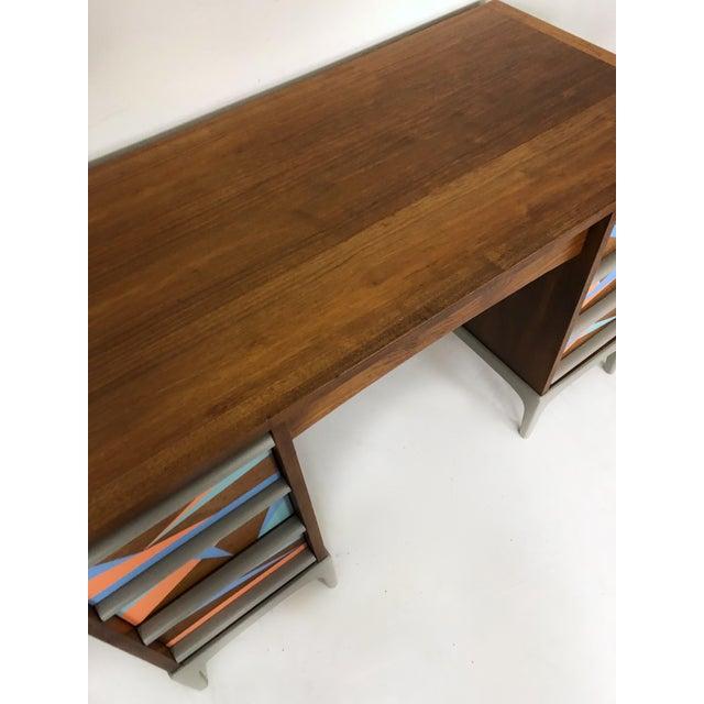Paint 1960s Vintage Lane Furniture Mid-Century Modern Desk & Chair - 2 Pieces For Sale - Image 7 of 8
