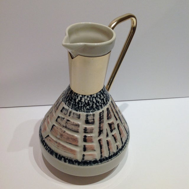 Mid-Century Pottery Pitcher - Image 5 of 7