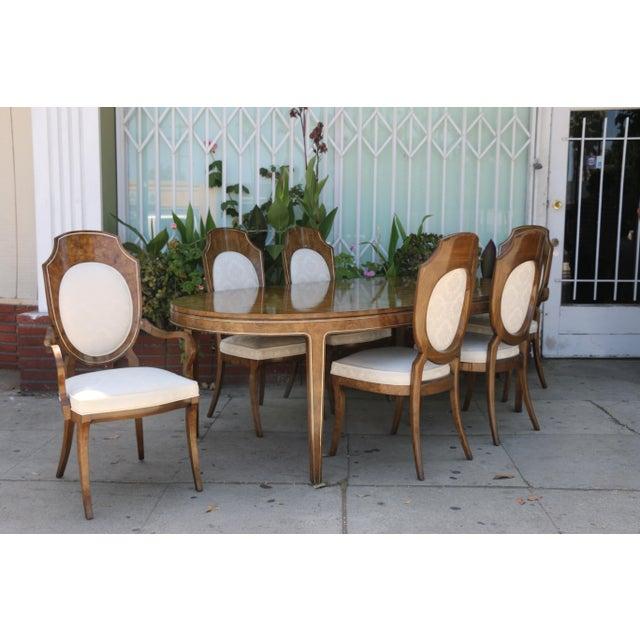 White Mastercraft Burlwood Dining Set For Sale - Image 8 of 12