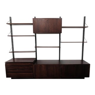 Cado Style Mid Century Freestanding Danish Rosewood Wall Unit