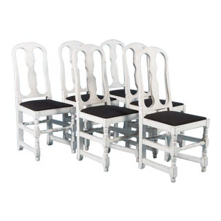 19th Century Swedish Side Chairs- Set of 6 For Sale