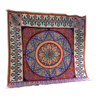Vintage Turkish Suzani Textile For Sale