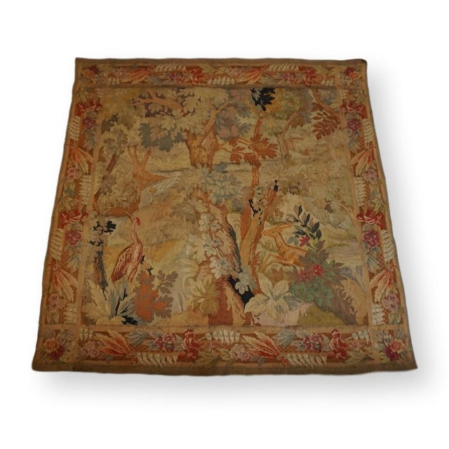 Late 19th Century French Des Bois Tapestry- 6 X 6' For Sale - Image 12 of 13