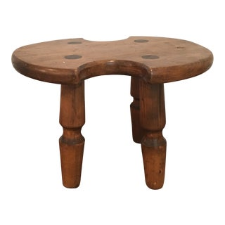 Rustic Americana Wooden Stool For Sale