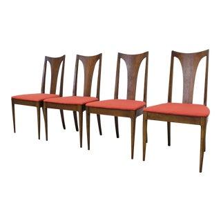 Set of 4 Mid-Century Modern Broyhill Brasilia Side Walnut Dining Chairs For Sale