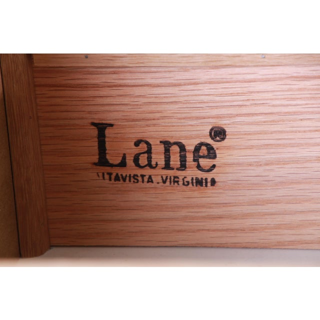 Burl Wood Credenza by Lane Furniture For Sale - Image 12 of 13
