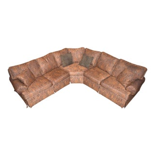 Ethan Allen Three Piece Large Sectional Sofa For Sale