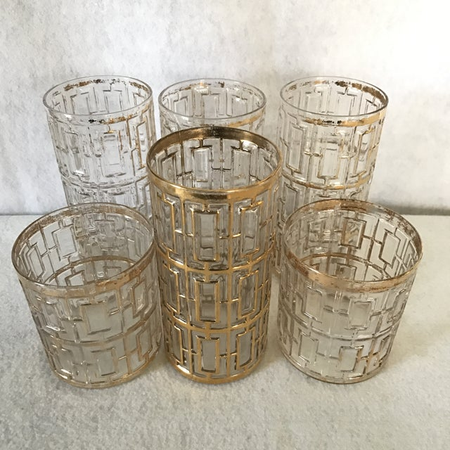 Hollywood Regency Collection of Imperial Glasses- Set of 6 For Sale - Image 3 of 5