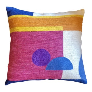 Abstract Design Patchwork Pillow For Sale