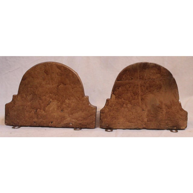 Antique Carved Wood Wall Brackets/Shelves - Pair For Sale - Image 4 of 5
