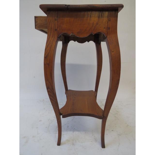 Antique Oak Side Table - Image 7 of 7