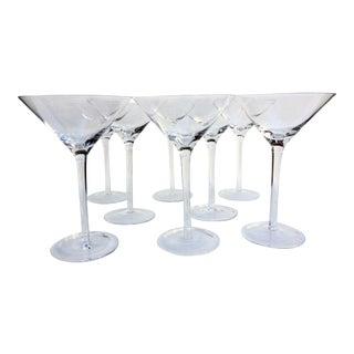 Vintage Martini Glasses - Set of 8 For Sale
