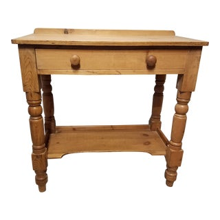 Antique Pine Wash Stand For Sale