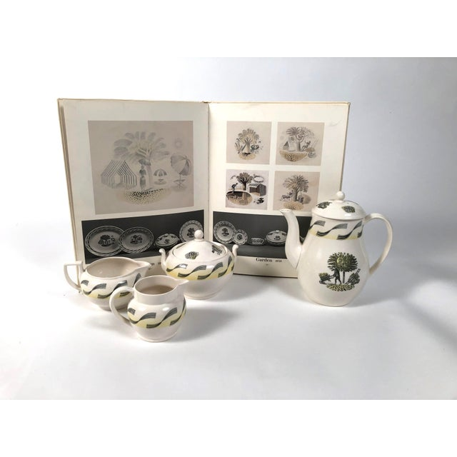Wedgwood Eric Ravilious Garden Series Coffee Service for Wedgwood - 4 Pc. Set For Sale - Image 4 of 13
