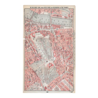 1911 West End London Map For Sale