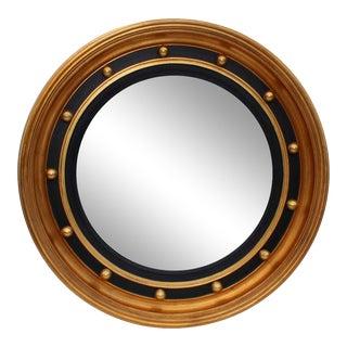 Bullseye Convex Gold Leaf Mirror For Sale