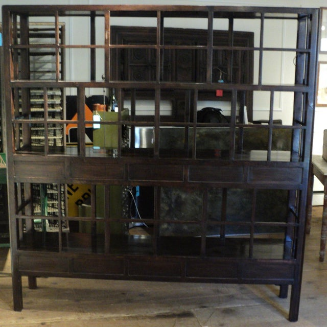 Large Antique Chinese Solid Wood Multi Drawer Etagere - Image 9 of 11