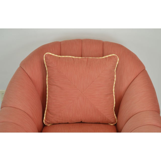 Orange Pierce Martin Quality Pair Rolled Arm Wicker Lounge Chairs For Sale - Image 8 of 13